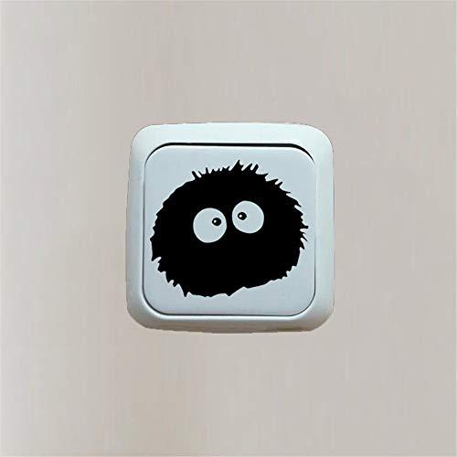 wandtattoo uhr gitarre Aufkleber Sticker Totoro Ghibli Schalter Cartoon Sticker Room Decor Schlafzimmer Dekor für Kinderzimmer Kinderzimmer