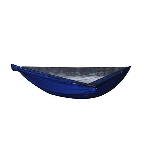 Tubayia - Hamaca portátil con mosquitera, para camping, senderismo, jardín, color azul