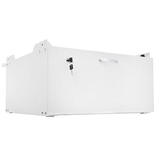 Arkas WM-001-60 Unterbausockel mit Schublade für Waschmaschinen und Trockner, weiß