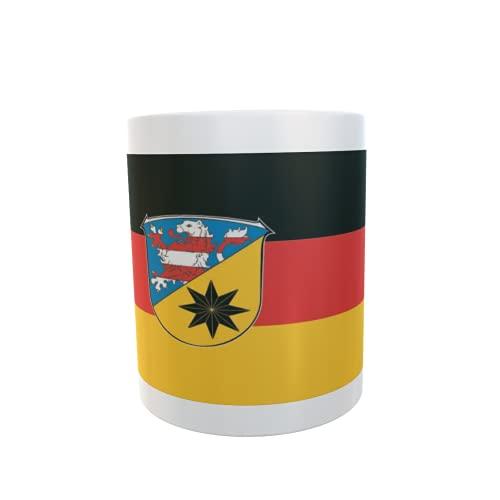 U24 Tasse Kaffeebecher Mug Cup Flagge Landkreis Waldeck-Frankenberg