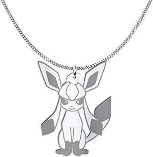 Collana Glaceon Pokémon, Sterling Silver o placcato oro 18K, gioiello regalo amicizia, migliori amici