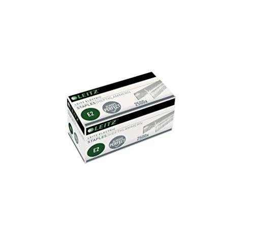 Leitz Electric Heftklammern E2, Verzinkt, Box mit 2500 Heftklammern, 55690000