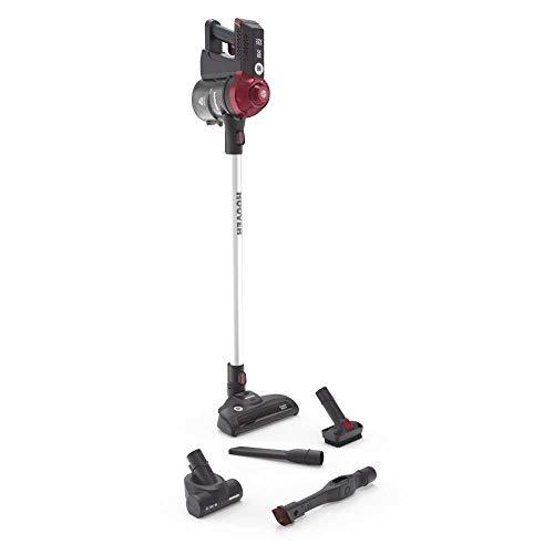 Hoover FD22RP011 Freedom - Scopa Elettrica Senza Filo, Autonomia fino a 25 min, 0,7 Litri, Grigio e Rosso