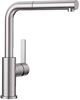 Blanco LANORA-S – Kitchen Mixer Tap Made of Solid Stainless Steel with Pull-Out Spout – High Pressure – Brushed Stainless Steel – 523123 (B07B6M6J82) | Amazon price tracker / tracking, Amazon price history charts, Amazon price watches, Amazon price drop alerts
