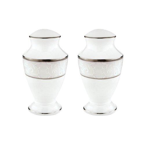 Lenox 830401 Opal Innocence Salt and Pepper Shaker Set, S&P, White