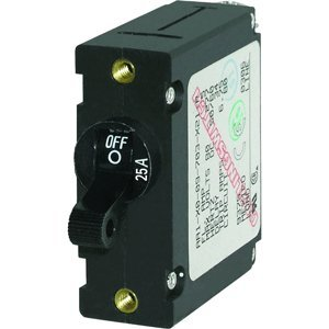 The Amazing Quality Blue Sea 7216 AC / DC Single Pole Magnetic World Circuit Breaker - 25 Amp