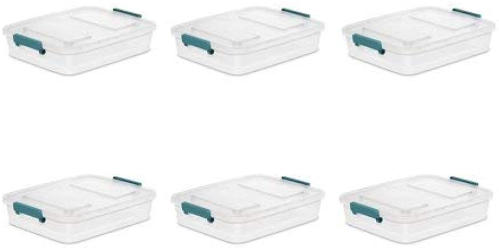 STERILITE 6 2 Qt 5 9 L Modular Latch Box Case Of 6