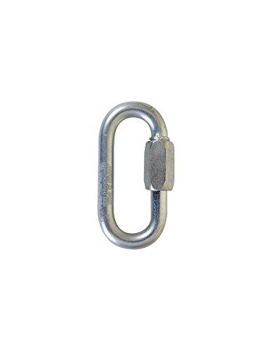 Maillon rapide ouverture normale acier zingué (4 - 180 - 900) - Ø mm : 4 - Charge utile kg : 180 - Charge rupture kg : 900
