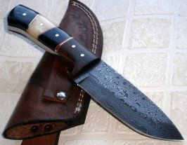Price Reduced - BC-T-1092 - Custom Handmade Damascus Steel Knife- Beautiful knife
