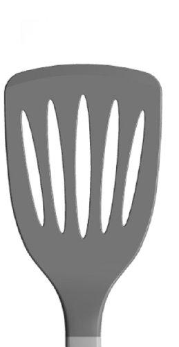 Pfannenwender mit Edelstahlgriff - gerade