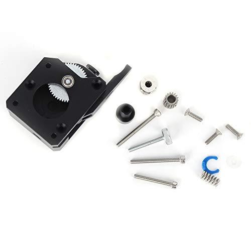 SALUTUYA Gear Extruder, Alloy Dual Feed Gear, 3D Printer Gear Extruder, 3D Printer Accessories with 1 Set Installation Kits