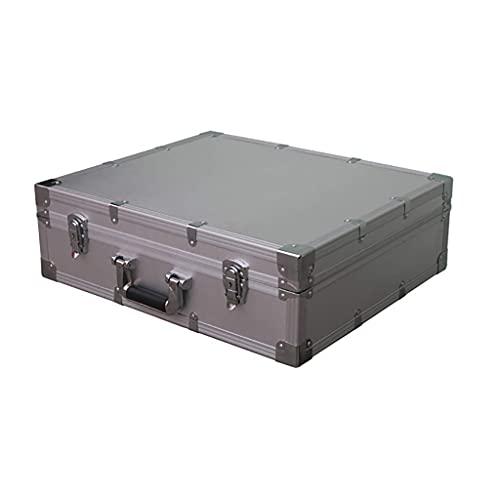 XBSXP Herramientas Maletín de Transporte de Aluminio, Caja de Transporte con Cerradura Caja de Almacenamiento de Herramientas a Prueba de Golpes Maletín Negro de Espuma Caja de herramien