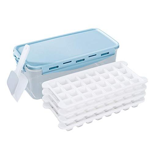Biggystar Boîte à glaçons en Silicone à Fond Mou Boîte à glaçons congelée Cube de Glace Moule à Boisson Froide avec Couvercle Réfrigérateur Congélateur Rapide Boîte à glaçons 3,3 L avec