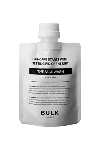 BULK HOMME - THE FACE WASH, 3.5 oz   Foaming Men's Face Wash   Daily Moisturizing Facial Cleanser for Dry Skin   Hydrating Foam Cleanser with Bentonite Clay Minerals   Men's Skin Care For All Skin Types