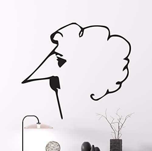 "ManukaDesigns Kurt Vonnegut Wall Decal - Slaughterhouse-Five Author Vinyl Art - Artistic Design Bedroom Living Any Room Home Decoration CG534 (22"" Width x 20"" Height)"