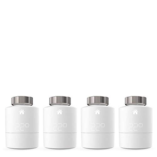 tado° Smartes Heizkörper-Thermostat - Quattro Pack, Zusatzprodukte für Einzelraumsteuerung, Einfach selbst zu installieren, Designed in Germany