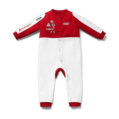 Audi 320190030 Sport Strampler Racing, Baby, weiß/rot, 74/80