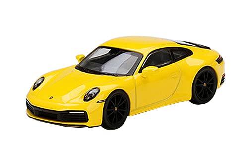 MINI GT 1/64 ポルシェ 911 (992) カレラ 4S レーシングイエロー (右ハンドル) 完成品