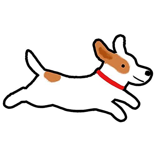 BLKUOPAR 5.1 '' lindo perro vinilo coche calcomanía impermeable portátil refrigerador motocicleta DIY patrón para la decoración parachoques