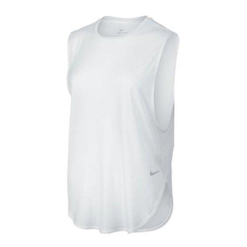 NIKE Elevated Sleeveless tee Camiseta sin Mangas, Mujer, Blanco (White/White/White), L