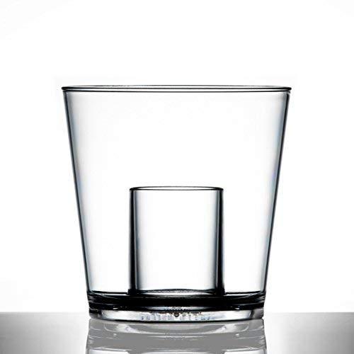 Lot de 24 verres à shot 25 ml en plastique de qualité restauration; en polycarbonate résistant pratiquement incassable