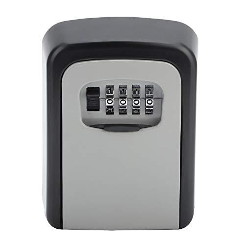 logozoee Caja de Seguridad para Llaves, Resistente para Evitar martilleos, aleación de Aluminio, fácil operación, Caja de Seguridad Simple para Cerradura, Coche para el hogar