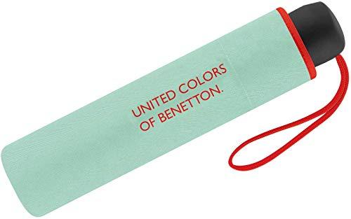 Paraguas Mini Mujer Manual United Colors of Benetton, Ocho Varillas, 95 cm...