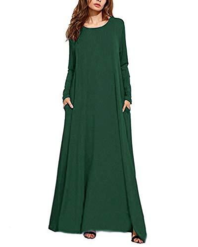 Kidsform Sommarklänning damer kortärmad maxiklänning blommor lång klänning kaftan strandklänning stor