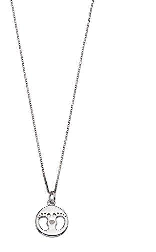 D para Diamond para niños bebé joyas huella medalla colgante para bautizo regalo