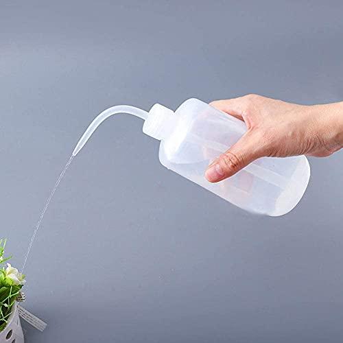 LACKINGONE 500ml Transpartent Spritzflasche Pflanzen Squeeze Flasche Laborflasche Waschflasche Squeeze Flaschen Bewässerung Quetschflaschen Waschflasche für Gartenarbeit, Labor Chemie, Industrie,Weiß
