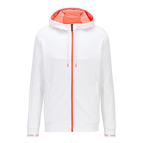 BOSS Saggy 1 Sweatshirt à Capuche, Blanc 100, M Homme