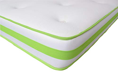 The eXtreme Comfort (UK) Ltd Lime & White 3D'AirFlow' Hybrid Deep Fill Memory Foam & Spring Mattress, approx 9' deep