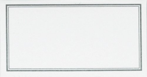 C.R. Gibson White and Silver Table Place Cards for All Occasions, 20 pc, 3'' W x 1.75'' H