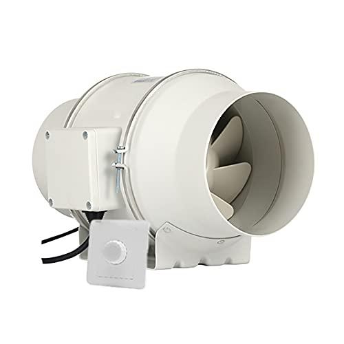 KaiLangDe 150mm 6' Extractor De Aire En Línea Ventilador De Conducto Ventilador De Baño Silencioso para Dormitorio Fábrica Taller Invernadero con Interruptor De Control De Velocidad Continuo