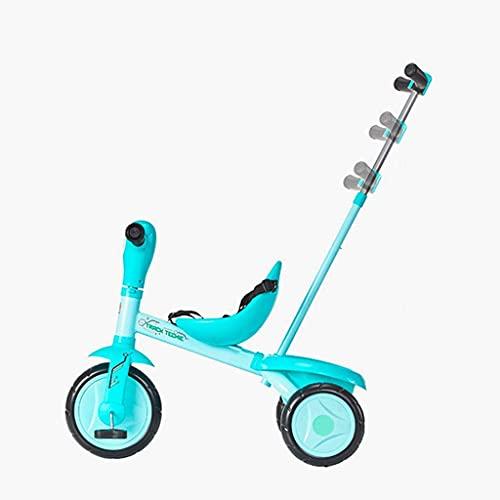 NBgycheche Triciclo Trike Triciclos Infantiles, Bicicletas para niños, niños de 2,3,4,5 años, niñas, Interior y Triciclo al Aire Libre (con Putter Ajustable y Cinturones de Seguridad de Tres Puntos)