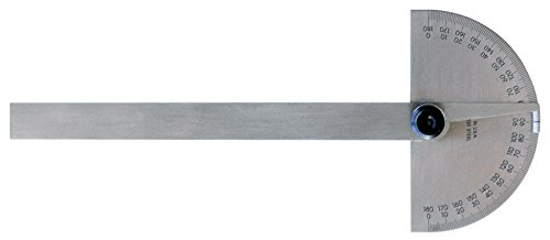 Mitutoyo-968-202 Protractor, Semi-Circular, 6 in, Non-Grad