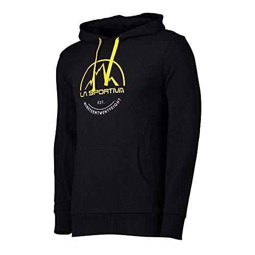 La Sportiva Logo Hoody Sudadera con Capucha, Unisex Adulto, Negro (Black), L