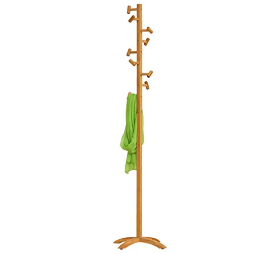 MKVRS Perchero de pie Percha de bambú Simple Colocación en el Suelo Perchero Creative se dirigen la Ropa Que cuelga de Almacenamiento en Rack de Madera Percha Dormitorio Percheros (tamaño : B)