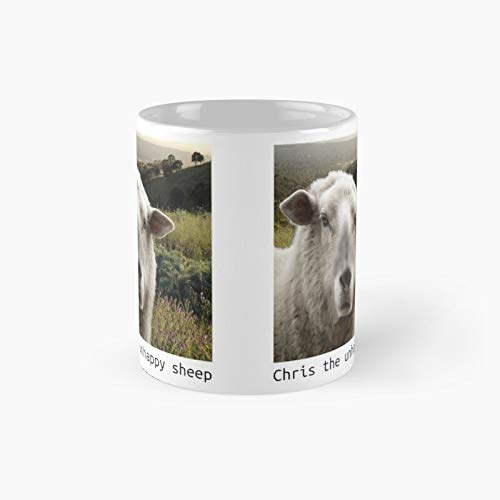 Chris The Unhappy Sheep Father Ted Taza clásica | El mejor regalo divertidas tazas de café de 11 oz