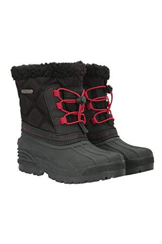 Mountain Warehouse Arctic Kids Waterproof Snowboots - Winter Shoes Black Kids Shoe Size 7 US