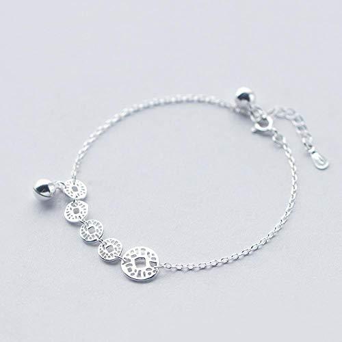 nobrand S925 zilveren armband dames koper geld bel armband