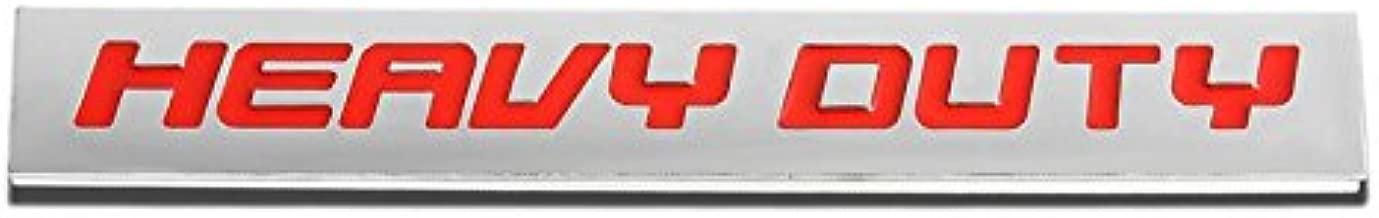 UrMarketOutlet HVDT Red/Chrome Aluminum Alloy Auto Trunk Door Fender Bumper Badge Decal Emblem Adhesive Tape Sticker