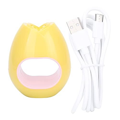 Secador de uñas portátil, Mini lámpara de uñas, Lámpara USB Secador de gel UV de un solo dedo Máquina de curado de uñas Herramientas de manicura Herramienta de arte de uñas(amarillo)
