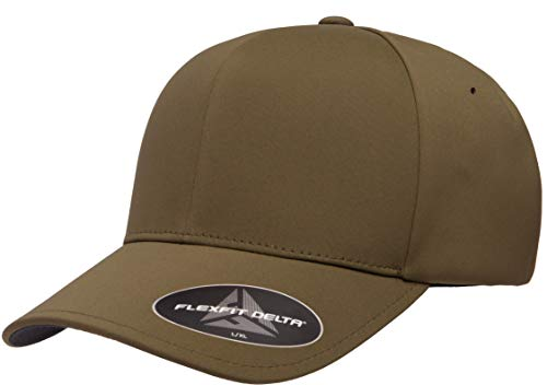 Flexfit Men's Delta Seamless Cap, Olive, L/XL