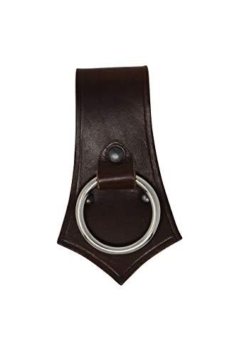 Erlebnis Mittelalter – Axthalter mit Ring aus Rindsleder im Stil des Mittelalters (braun)