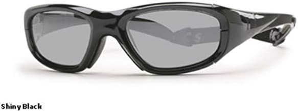 Rec Specs Protective Sports Eyewear- Maxx 20 - Shiny Black/ Silver Flash