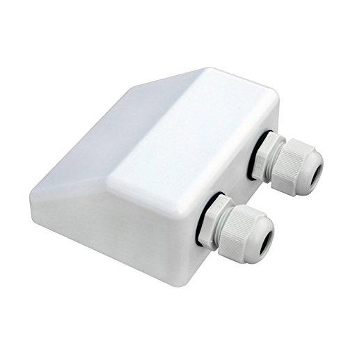 ECO-WORTHY wit dak kabel ingang klier/zonnepaneel dubbele kabel klier doos voor caravan