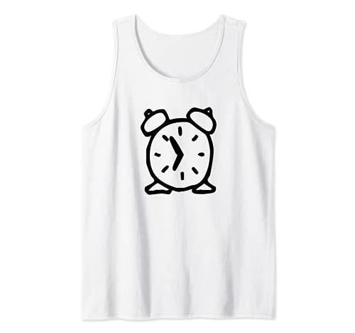 Reloj despertador de dibujos animados Camiseta sin Mangas