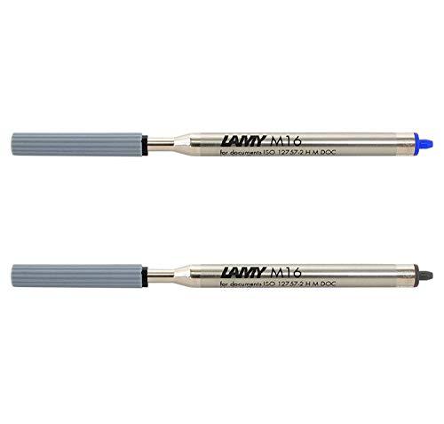 Lamy M16 Kugelschreiber-Großraummine, Strichbreite: F / gemischtes Set (1 x Blau + 1 x Schwarz)