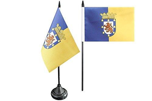 Flaggenfritze® Tischflagge Chile Santiago de Chile - 10 x 15 cm